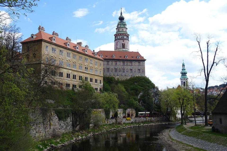 Czech Krumlov, River, The Historic Core Of The, Castle