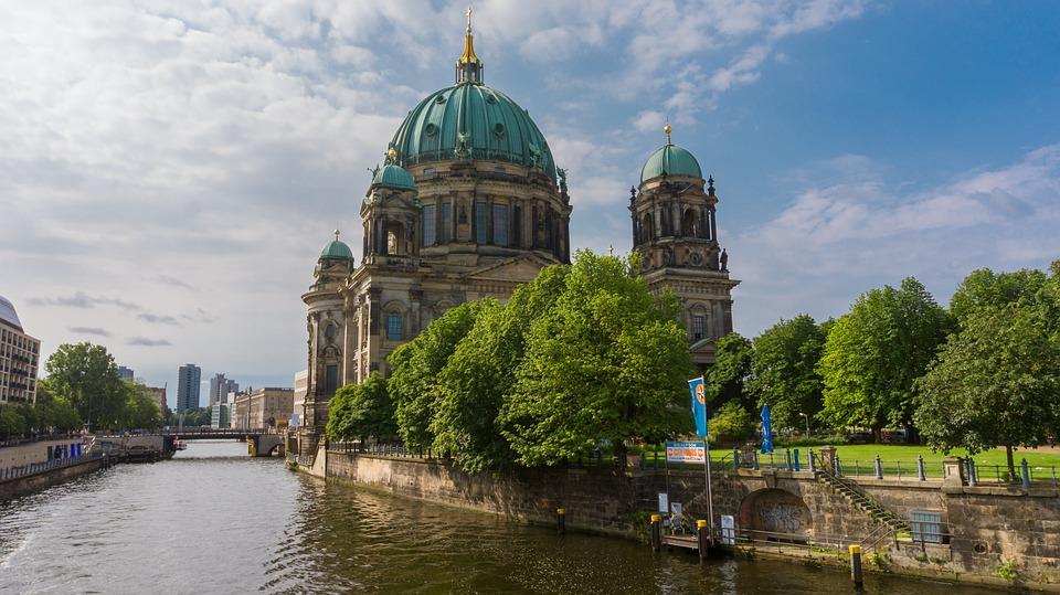 Architecture, River, Church, City, Travel