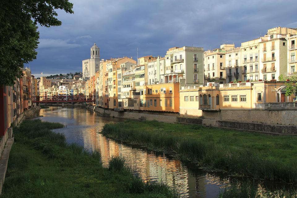Spain, Sunset, Travel, Catalonia, Sightseeing, River
