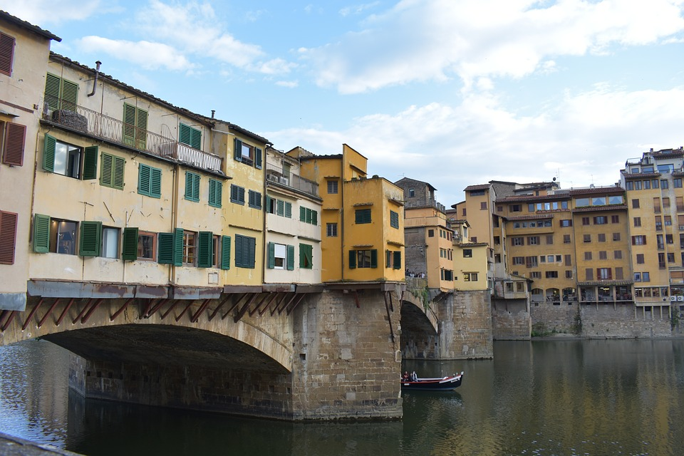 Florence, Tuscany, River, Architecture, Italy, Travel