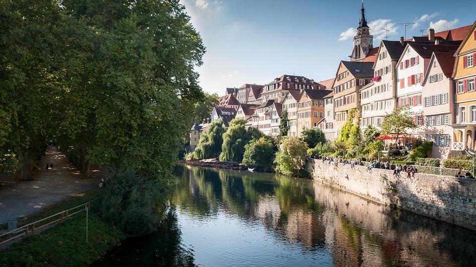 Tübingen, Neckar, Architecture, River, Old, Travel
