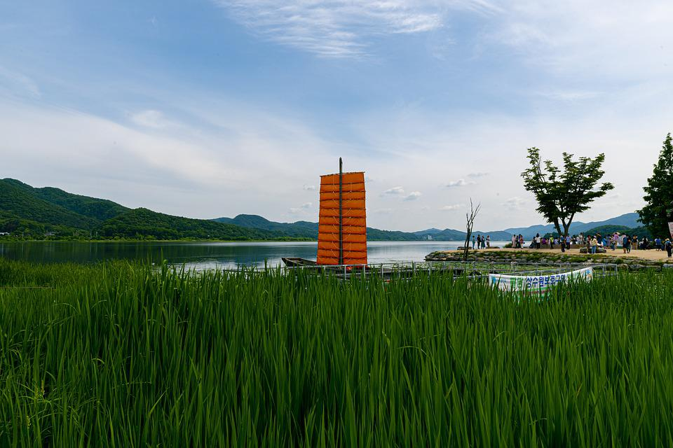 Two Water Head, Yangpyeong, Lake, River, Landscape