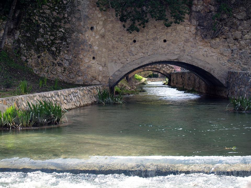 Water, River, Bridge, Nature, Channel, Vegetation