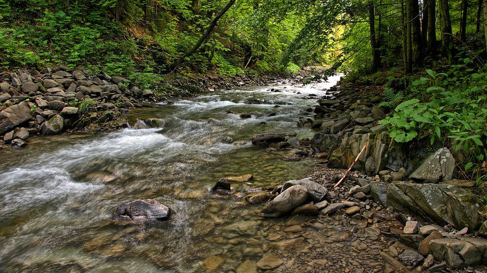 River, Stream, Water, Mountains, The Stones, Hot