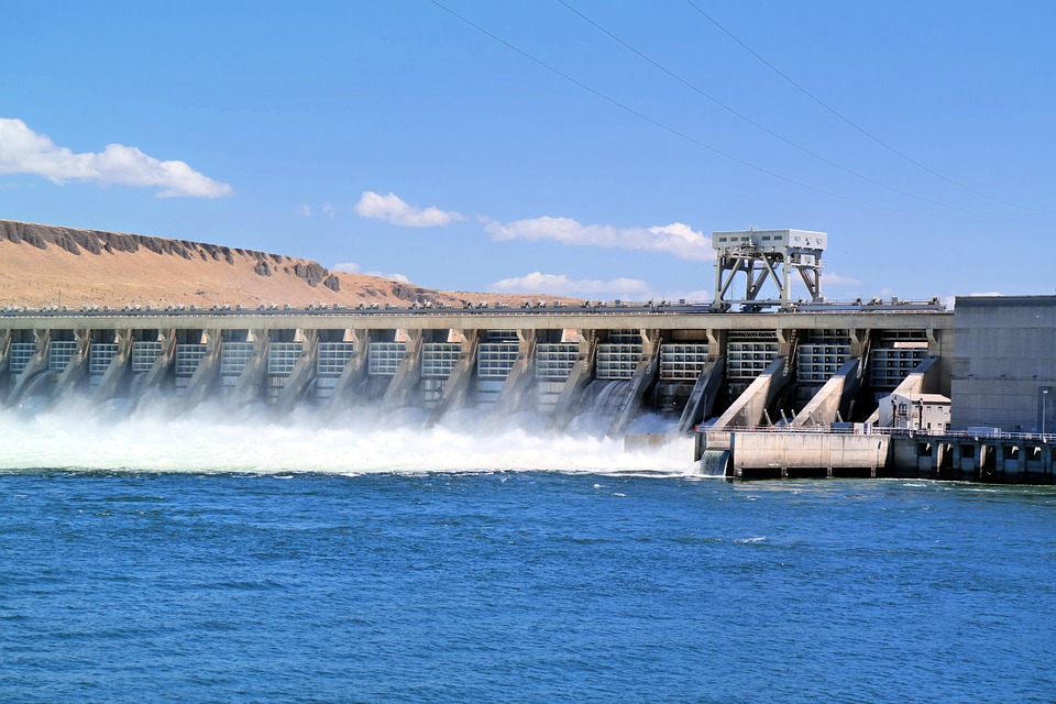 Dam, River, Water, Landscape, Power, Hydroelectric