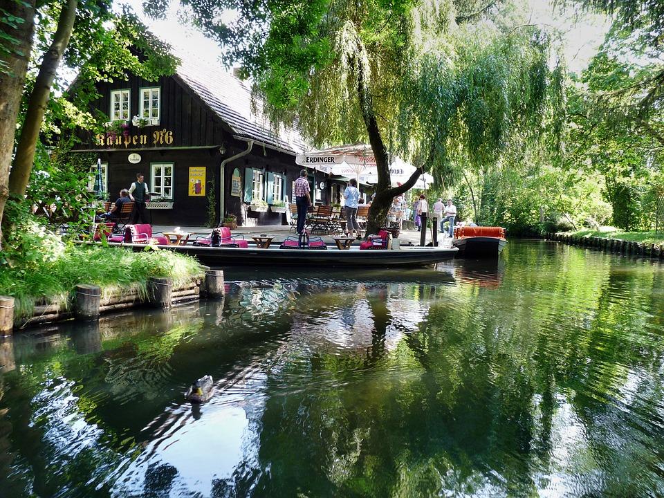 Spreewald, River, Rowing, Port, Water, Lehde