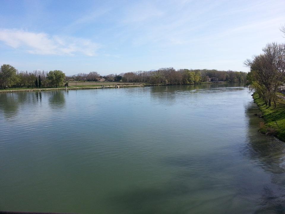 River, Avignon, France, Quiet, Water