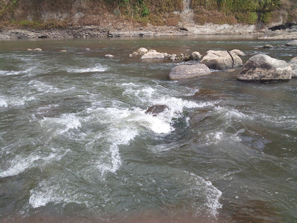 River, Water Stream, Waves, Geology, Indonesia, Water