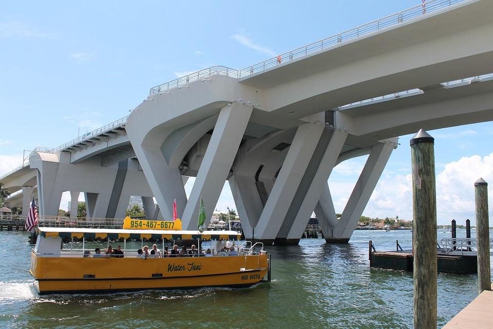 Bridge, Water Taxi, Intracoastal, Boat, River, Travel