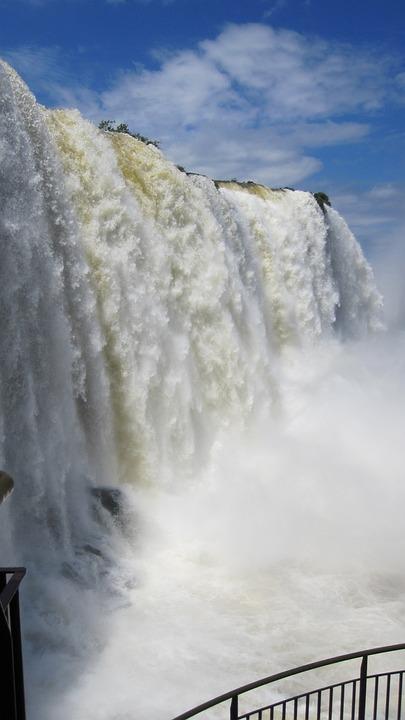 Iguazu, Waterfall, Water Wall, Water, River, Roar