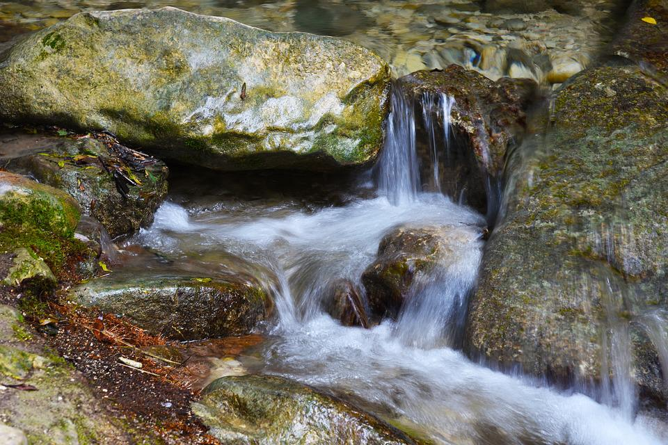 Waters, River, Waterfall, Nature