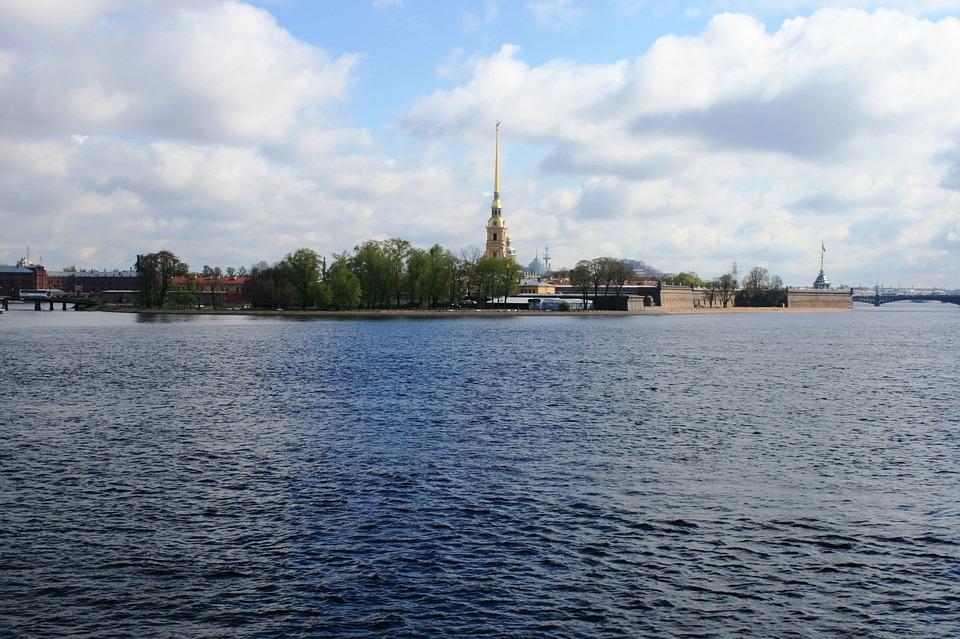 River, Neva, Deep, Wide, Fresh, Water, Ripples
