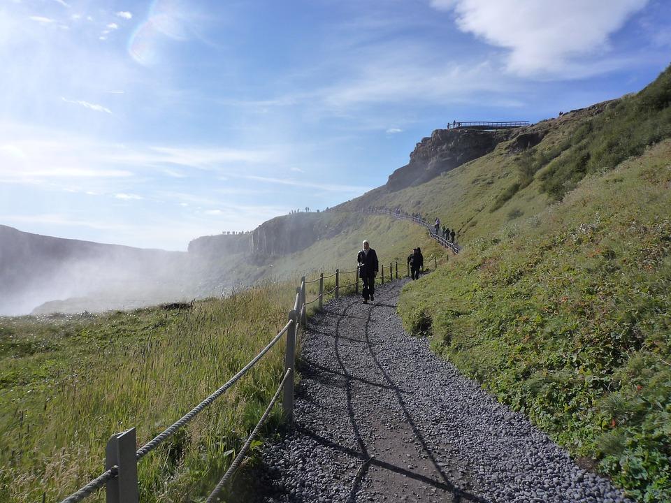 Gullfoss, Waterfall, River, Hvítá, ölfusá, Haukadalur