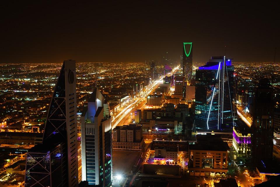 Riyadh, Saudi Arabia, City, Night, Lights