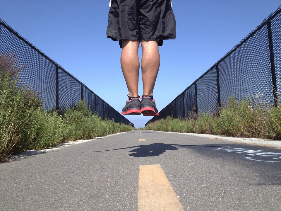 Jump, Man, Sports, Active, Fitness, Exercise, Road