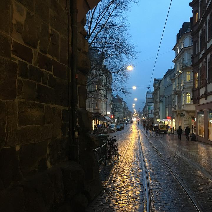 Road, Eng, Alley, City, Freiburg, Germany