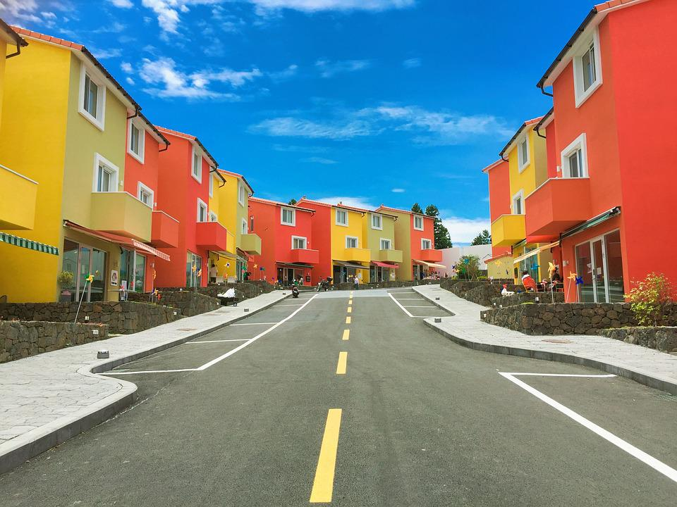 Architecture, Buildings, Houses, Pavement, Road, Street