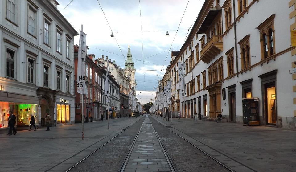 Road, City, Architecture, Travel, Graz, Mr Lane