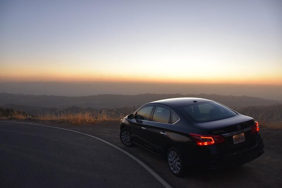 Auto, Asphalt, Road, Twilight, Evening