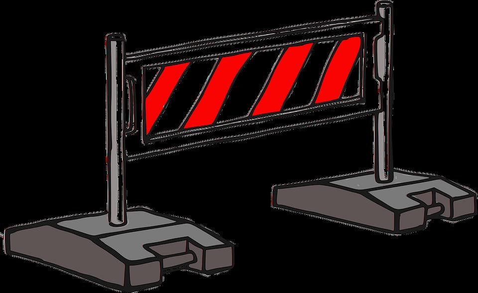Barrier, Construction, Road, Street, Warning