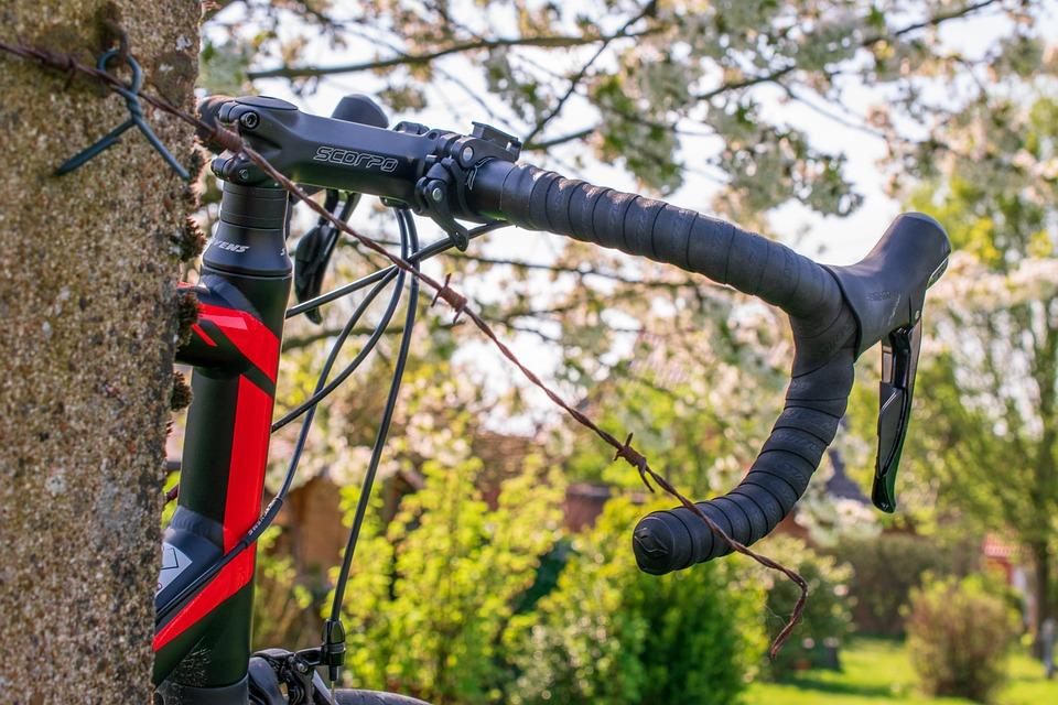 Road Bike, Bike, Handlebars, Close Up, Bokeh, Cycling
