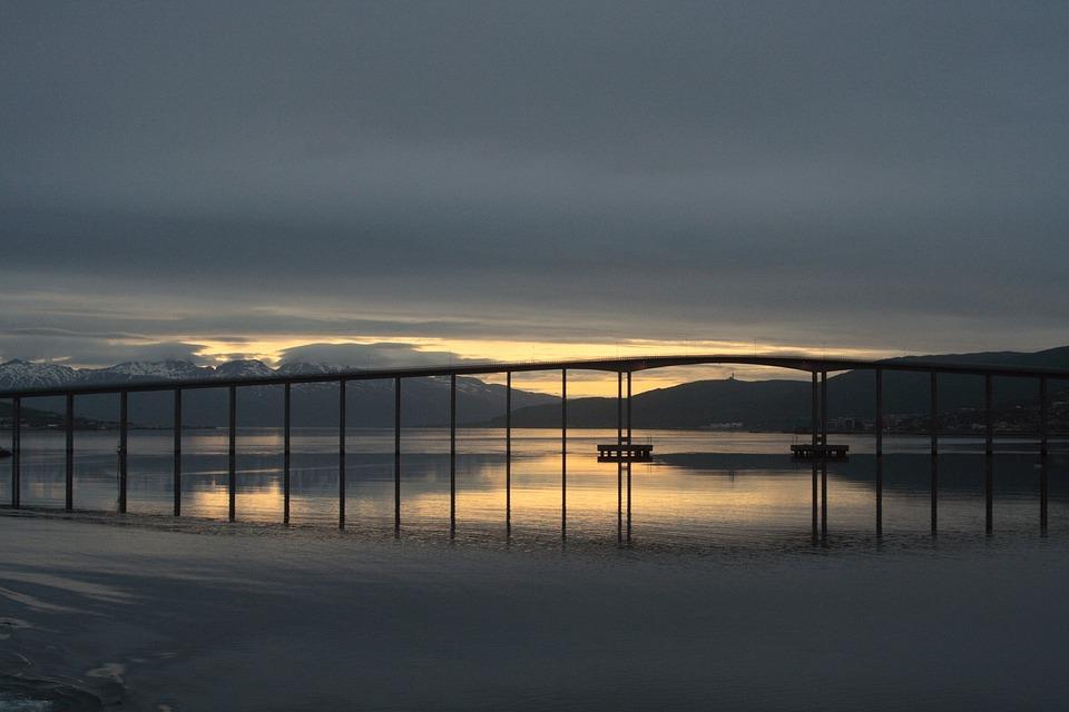 Bridge, Stokmarknes Bridge, Road Bridge