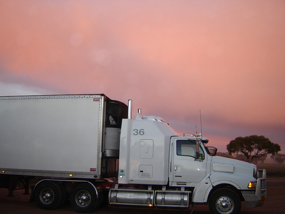 Truck, Lorry, Sunset, Road, Cargo, Freight, Delivery
