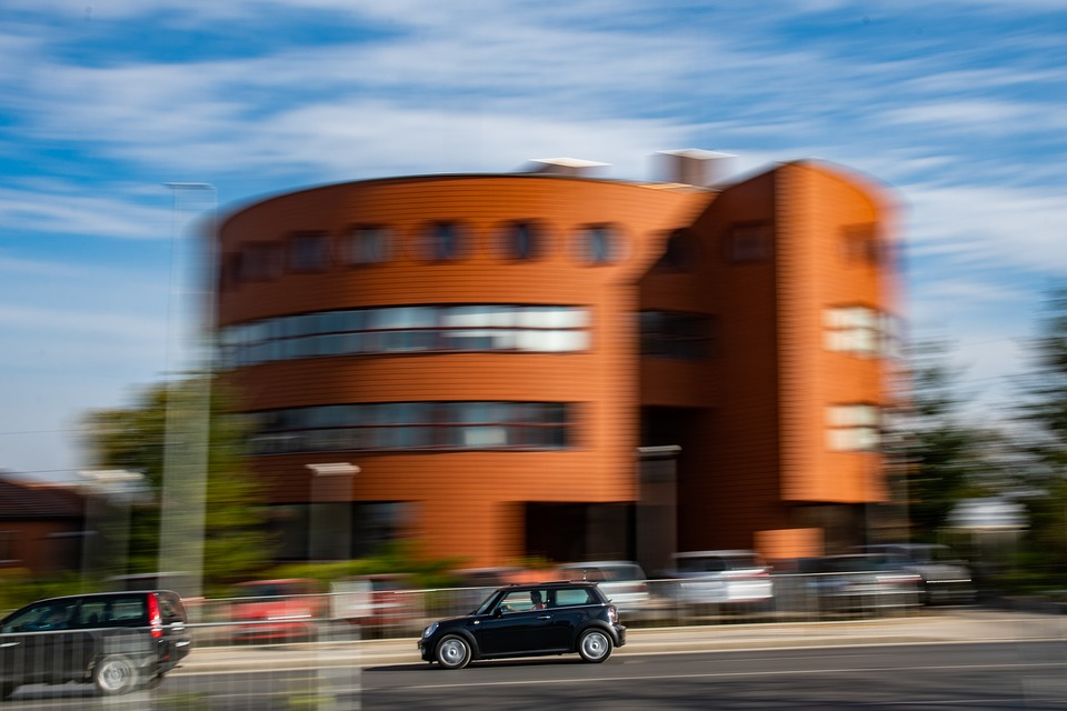 Speed, Motion, City, Urban, Car, Automobile, Fast, Road