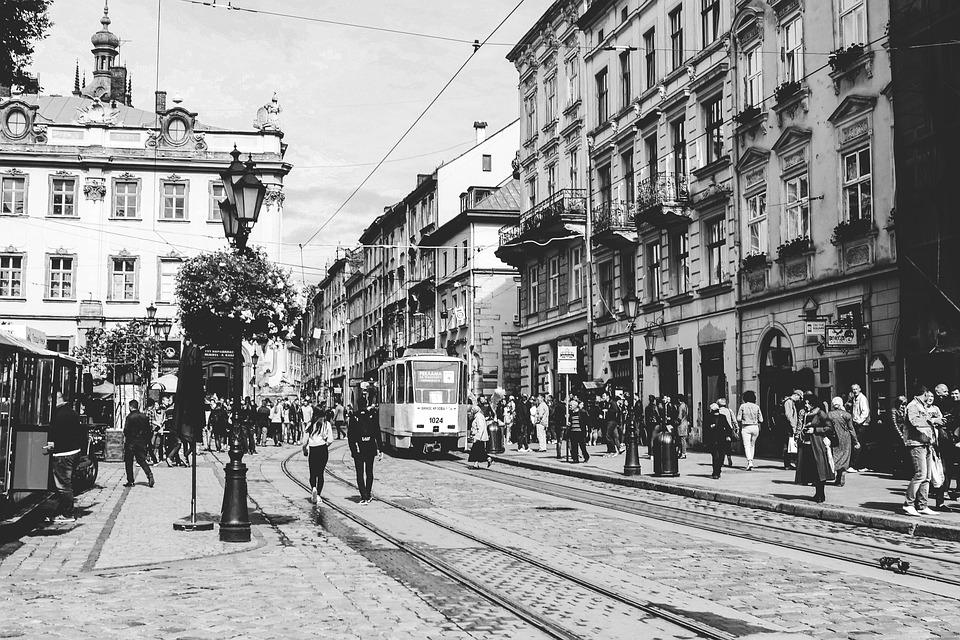 Street, Pedestrians, City, People, Road