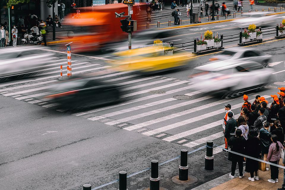 Road, Traffic, City, Street, People, Crowd