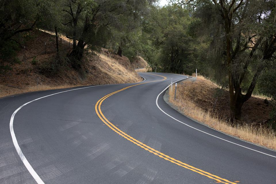 Winding Road, Road, Travel, Curved Road, Curvy Road