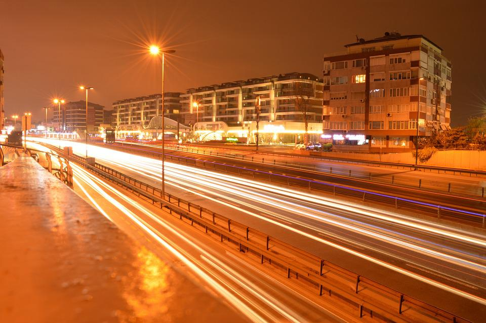 Road, Lights, Long Exposure, E5