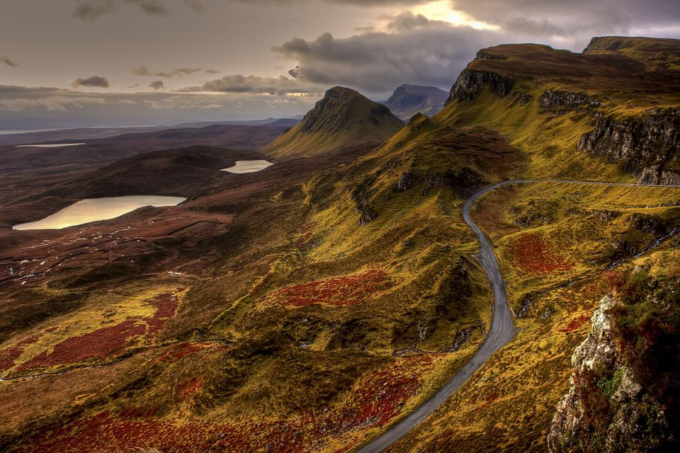 Landscape, Nature, Mountains, Road, England, Scotland