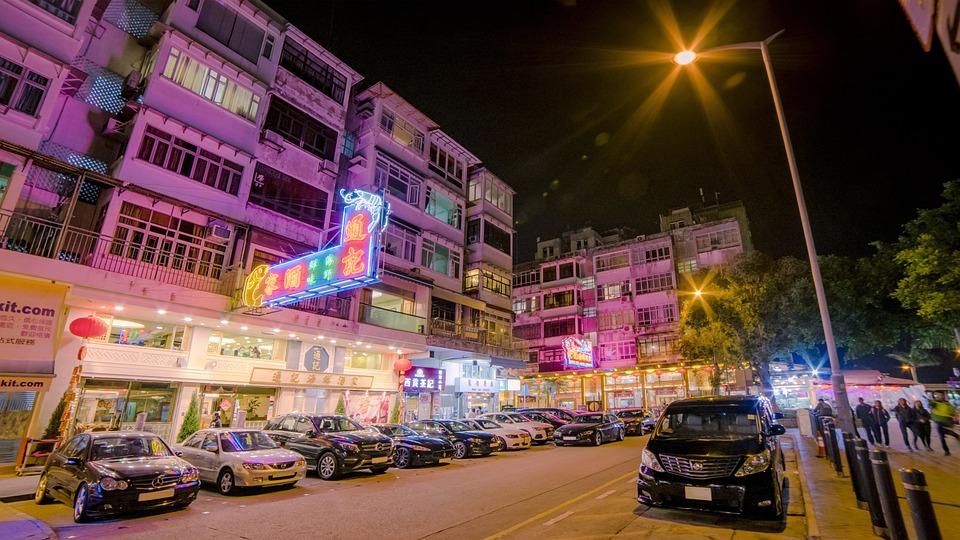 Illuminated, Street, Traffic, Road, Tourism, Evening