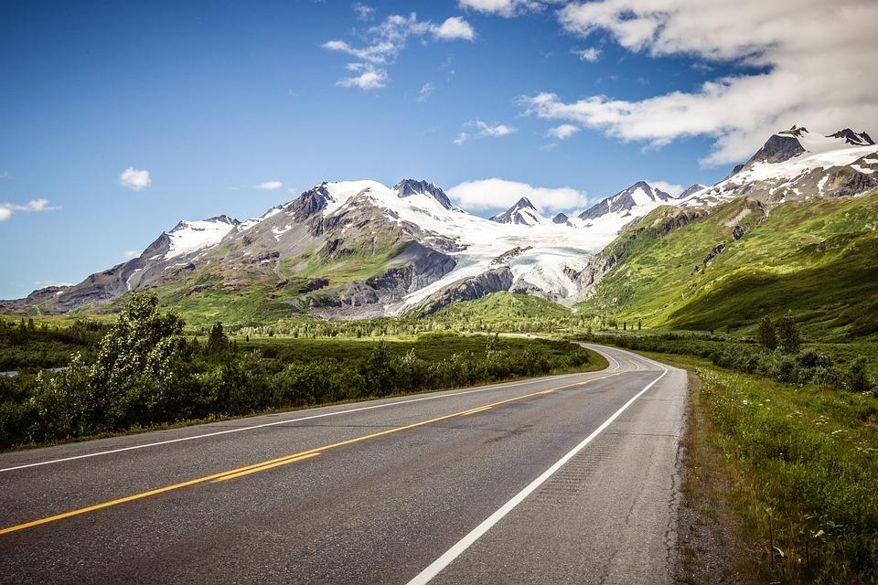 Landscape, Glacier, Road, Pass, Mountains, Nature, Ice