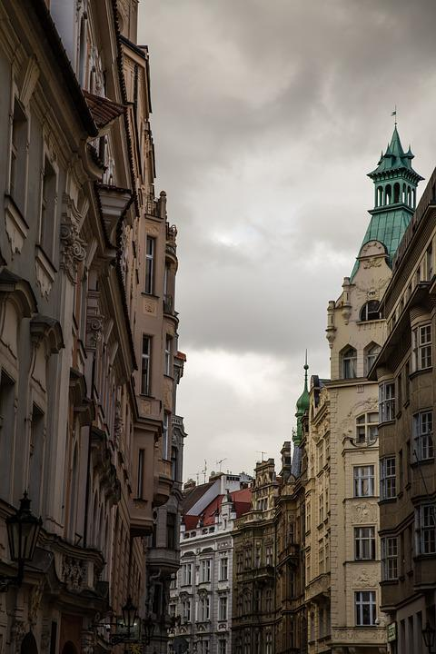 Golden City, Prague, City, Road, Old Town, Building
