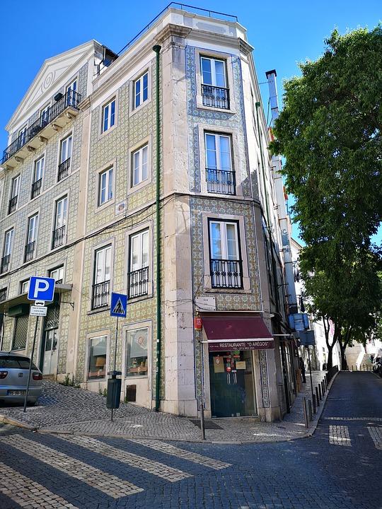 House, Road, Architecture, Lisbon, Lisboa, Portugal