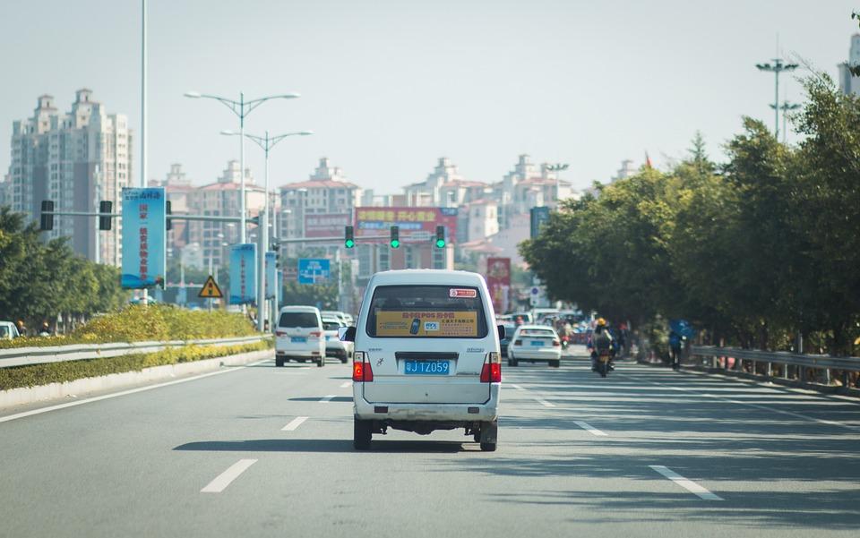 Highway, Automotive, City, Road, China, Kaiping