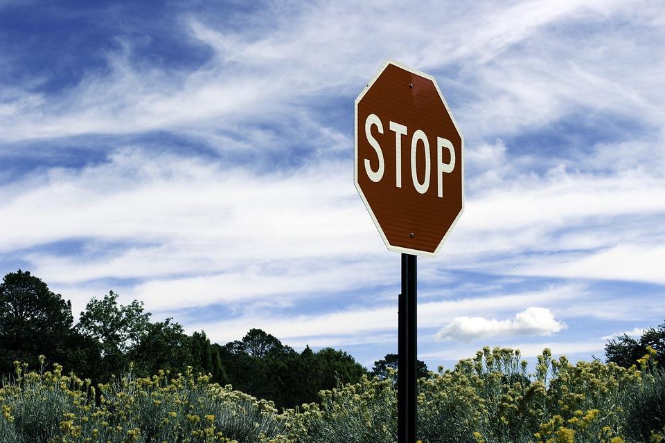 Stoplight, Landscape, United States, Road