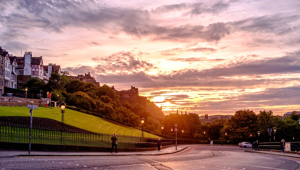 Sunset, Evening, Outdoors, Road, Light, Dusk, Sunrise