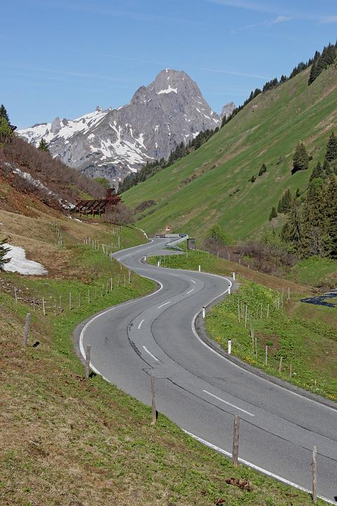 Mountains, Road, Motorcycle Tour, Motorcycle Track