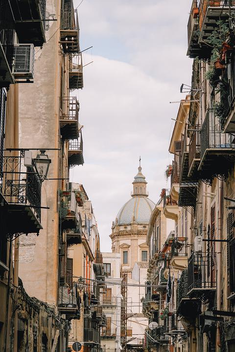Free photo Road Palermo Sicily Old Street Buildings - Max Pixel
