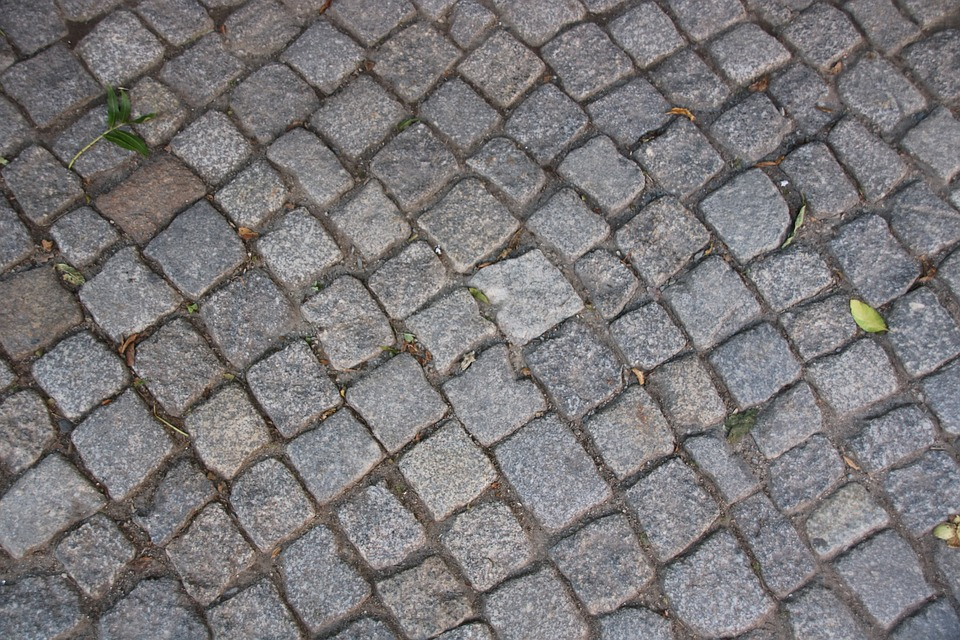 Patch, Stones, Sidewalk, Away, Road, Pattern, Structure