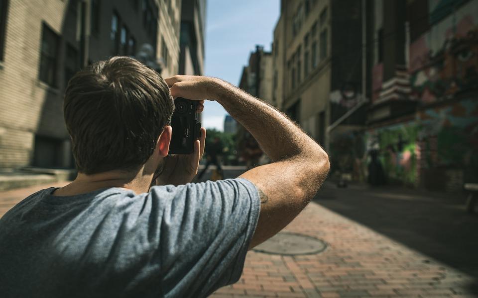 Guy, Man, Looking, Street, Road, City, People