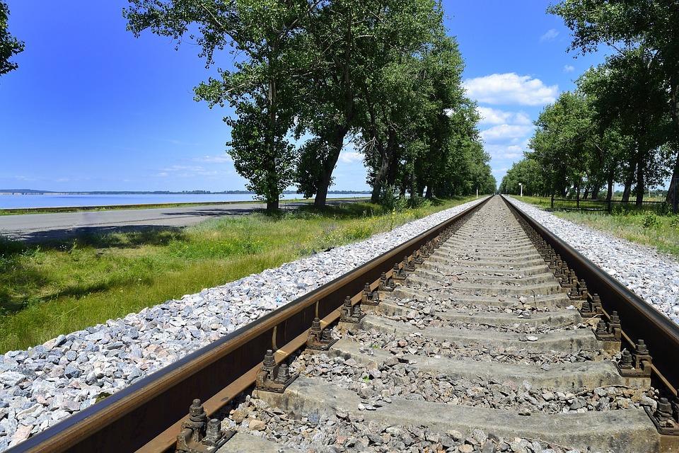 Railway, Ukraine, Road, Landscape, Transport, Travel