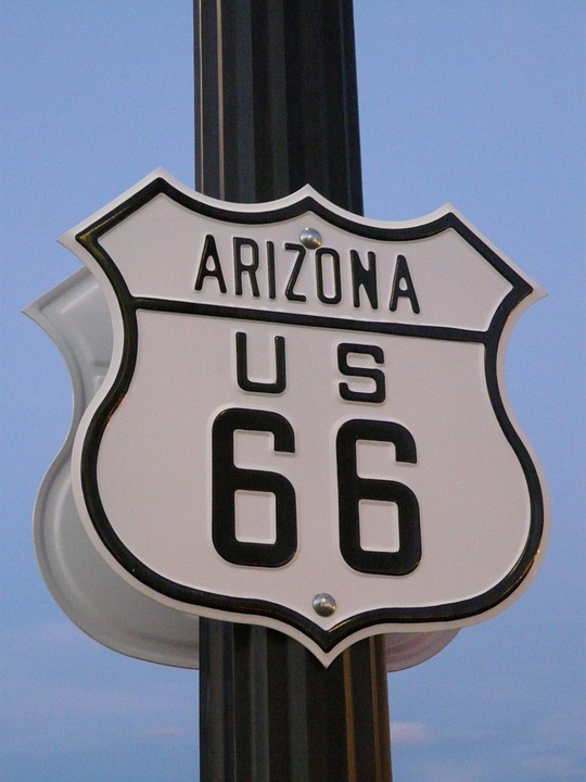 Route 66, Road, Shield, Usa, Highway
