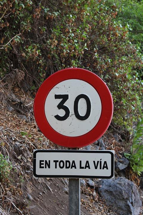 Road Sign, Spain