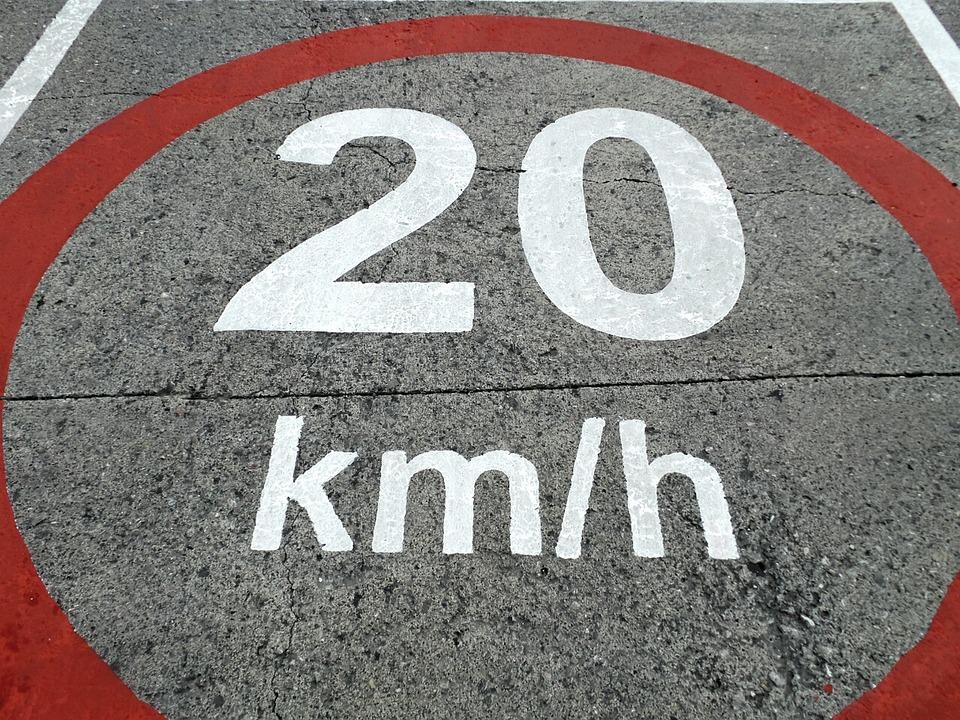 Road Sign, Speed Limit, Street Sign, Warning