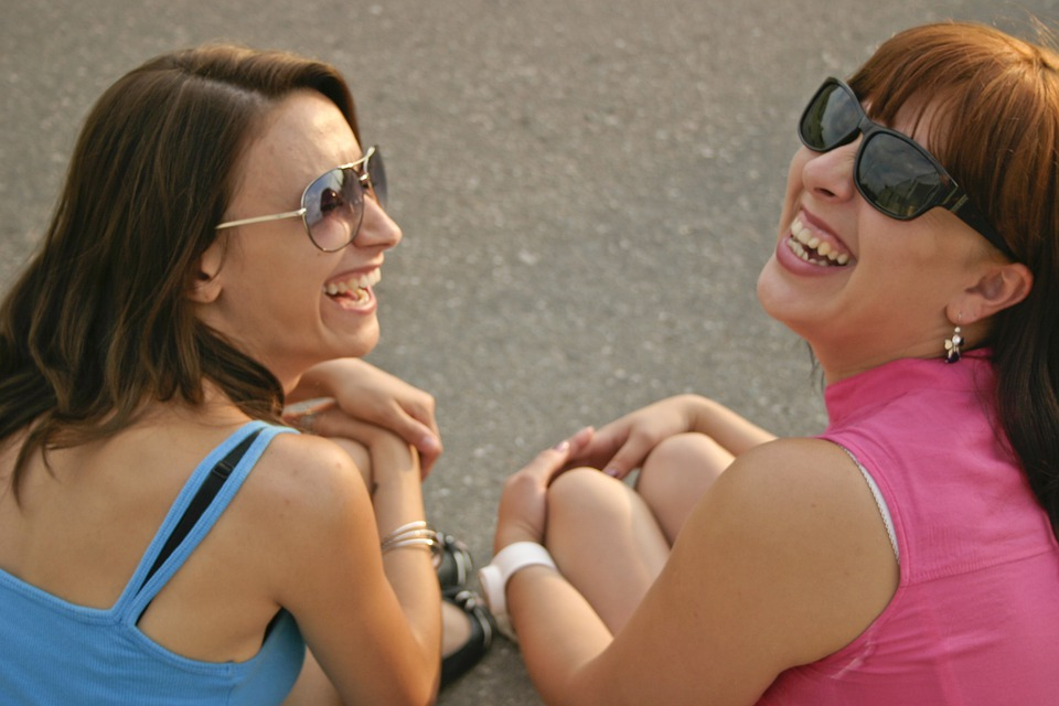 Girls, Summer, Road, Smiles