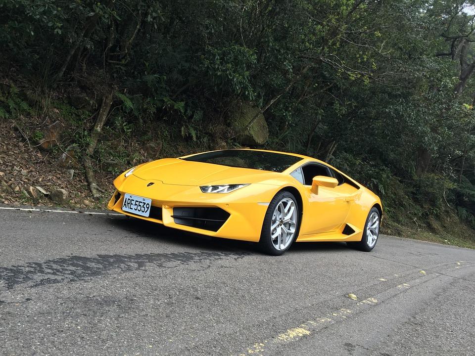 Car, Lamborghini, Yellow, Road, Sports Car, Luxury